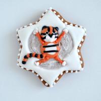 """Имбирное печенье  """"Тигр в снегу"""""""