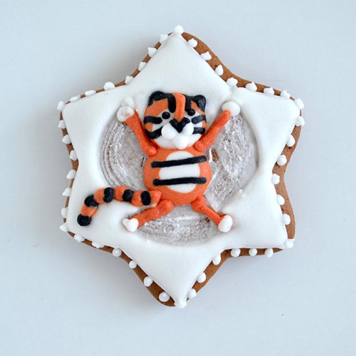 """Новый год, Рождество, Новогодний набор, Печенье """"Тигр в снегу"""""""