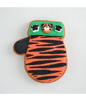 """Имбирное печенье  """"Варежка тигровая"""""""