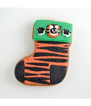 """Имбирное печенье  """"Носочек тигровый"""""""