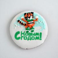 """Имбирное печенье  """"Тигр на сноуборде"""""""