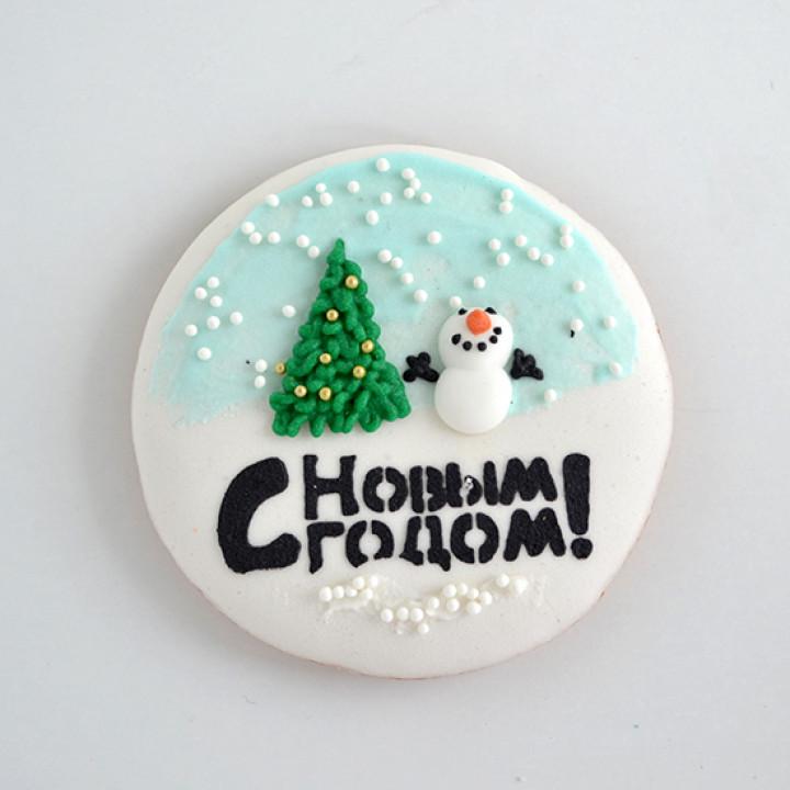"""Новый год, Рождество, Новогодний набор, Печенье """"Снеговик с елкой"""""""