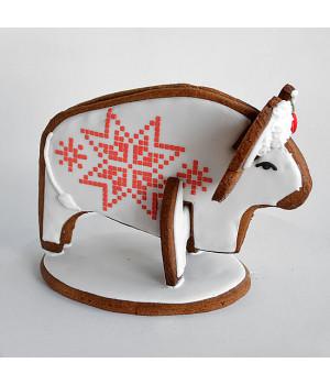 Имбирный бык в коробке с окошком