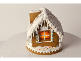 Пряничный домик-фонарик своими руками