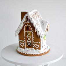 Пряничный домик-фонарик с витражными окнами своими руками